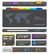 Web design UI elements toolkit pack. Interface Colorful Dark