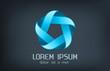 Logo company infinite shape. Logotype design element.