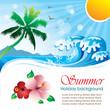 Summer holiday vector design