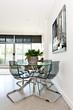 Modern condo dining room
