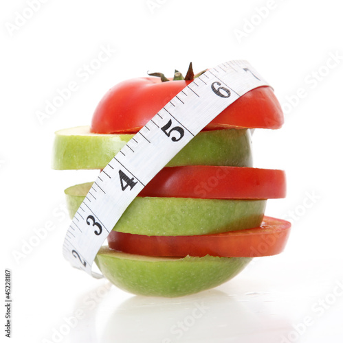 Tomatoes and apple