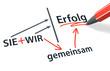 Stift- & Schriftserie: SIE + WIR => gemeinsam => Erfolg