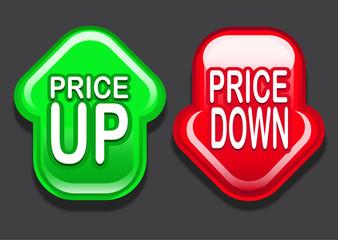 Price Up / Price Down Arrows