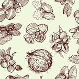pattern with nuts