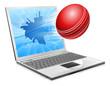 Cricket laptop broken screen concept