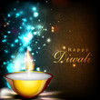 Greeting card for Diwali celebration in India. EPS 10.