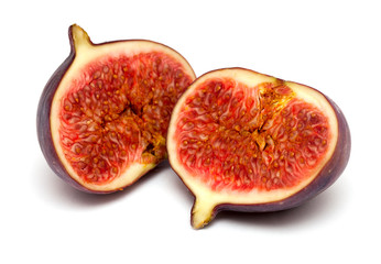freshly cut fig