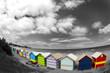 Cabanes colorées sur la plage de Melbourne - Australia
