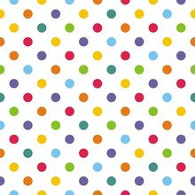 Seamless vector pattern or background with colorful polka dots