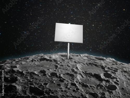 Adboard on a planetoid