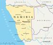 Namibia map (Namibia Landkarte)