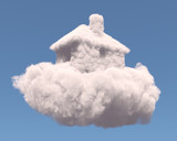 House shape clouds