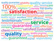 SATISFACTION - SERVICE - QUALITY Tag Cloud (customer  marketing)