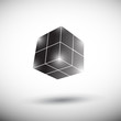abstract 3D black cube