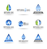 Set of gas energy icons. Natural gas. Gas industry. Vol 2.