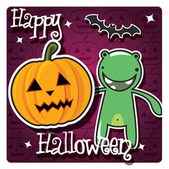 Happy Halloween card, vector