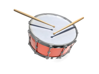 3d Drum and drumsticks