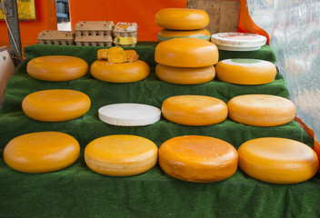 dutch market with cheese