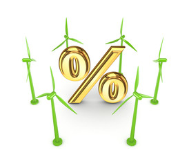 Wind energy concept.
