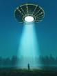 Постер, плакат: flying saucer arrived