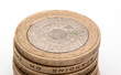 pile of two pound coins