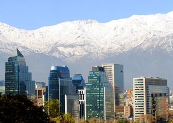 Santiago de Chile mit Andenkordillere