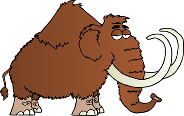 Mammoth Cartoon Character