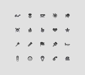 Miscellaneous interface icons