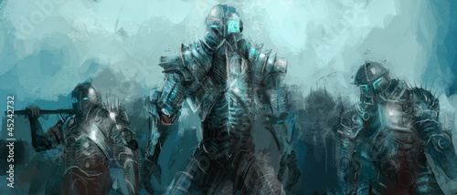 canvas print picture cybernetics army