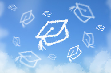 Cloud as Graduated hat
