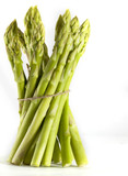 Asparagus on the white background