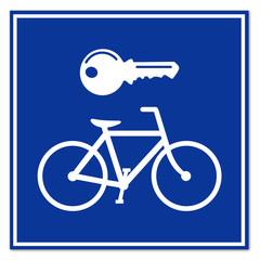 Señal alquiler de bicicletas