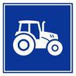 Señal simbolo tractor