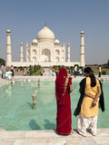 India tourists at the Taj Mahal