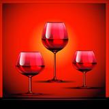 Fototapeta wino - ilustracja - Szkło