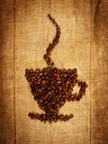 Fototapety Kaffee Bohnen Tasse