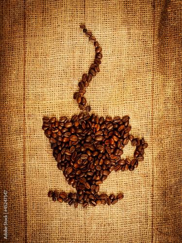 Kubek ziaren kawy