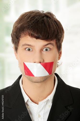 Freedom of speech concept.