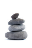 Balanced stack of stones. Zen design concept