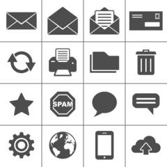 Mail icons set - Simplus series