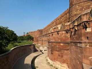 Agra fort in Agra, Uttar Pradesh, India