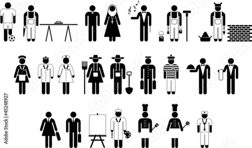Pictograms of workers