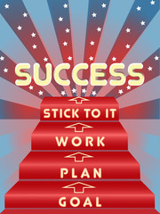 Steps to success image