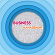 Business word cloud for business concept, Business Management