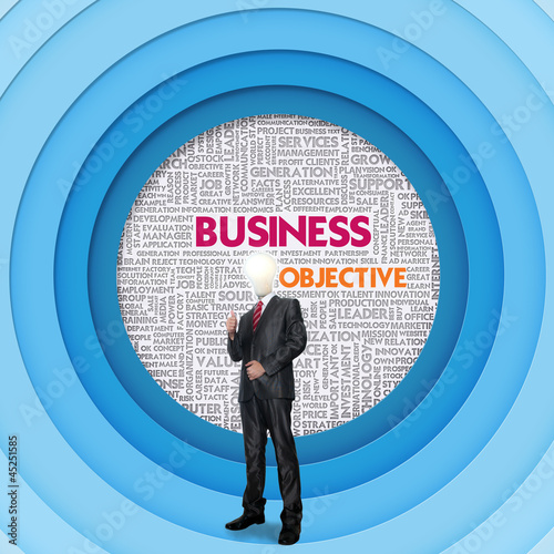 Business word cloud for business concept, Business Objective