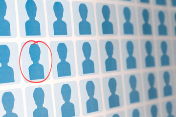 Blue People with One Candidate Selected