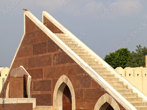 Stairs of sundials at Jantar Mantar observatory