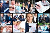 Fototapety Business people collage.