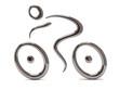 Silver cyclist icon