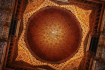 Plafond doré à l'interieur de l'Alcazar